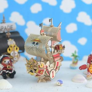 クラフト キット ハンドメイド 手作り  Wooden Art ki-gu-mi ワンピース サウザンド・サニー号|beadsmania-shop