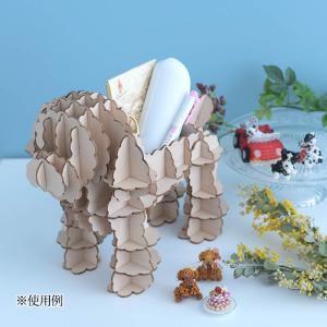 クラフト キット ハンドメイド 手作り  Wooden Art ki-gu-mi Living トイプードル 小物入れ|beadsmania-shop
