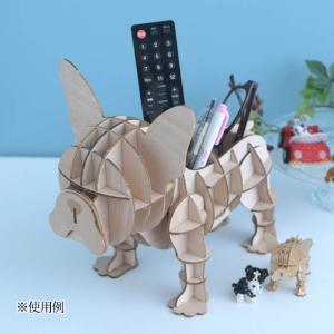 クラフト キット ハンドメイド 手作り  Wooden Art ki-gu-mi Living フレンチブルドッグ リモコンケース|beadsmania-shop
