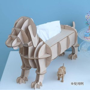 クラフト キット ハンドメイド 手作り  Wooden Art ki-gu-mi Living ダックスフント ティッシュ&マルチケース|beadsmania-shop