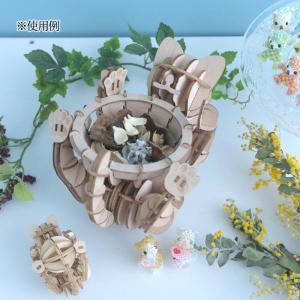クラフト キット ハンドメイド 手作り  Wooden Art ki-gu-mi Living ネコ 遊び 小物入れ|beadsmania-shop