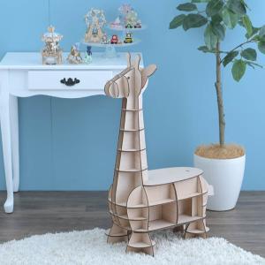 クラフト キット ハンドメイド 手作り  Wooden Art ki-gu-mi Living キリン 収納付きスツール|beadsmania-shop
