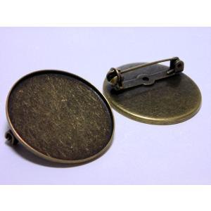 枠付きブローチ台 30mm|beadsshopj4