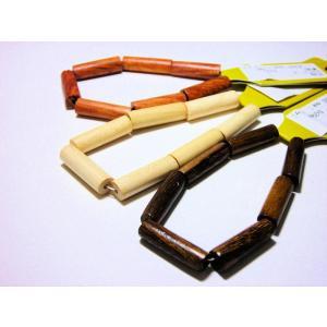 ウッドビーズ 円柱6×20mm (7ヶ)|beadsshopj4