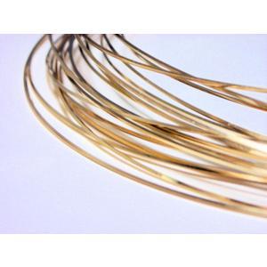 ゴールドフィルド スクエアワイヤー  (12/20KGF) ハーフハード 0.64mm 30cm|beadsshopj4
