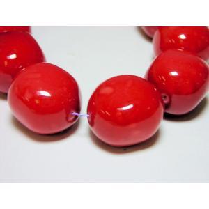 アースカラー変形アーモンド14x16mm|beadsshopj4