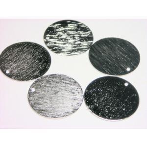 真鍮メタルプレートパーツ 20mm(1ヶ穴)  (5ヶ) beadsshopj4