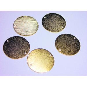 真鍮メタルプレートパーツ 20mm(2ヶ穴)  (5ヶ) beadsshopj4