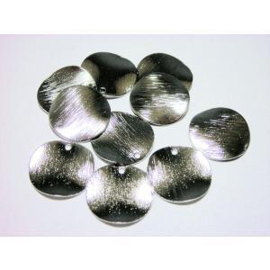 真鍮メタルプレートパーツ ゆがみウェーブ 15mm (10ヶ) beadsshopj4