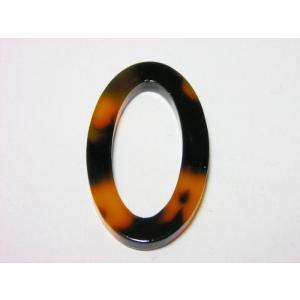 シートパーツ ベッコウ12 楕円リングパーツ17×30mm|beadsshopj4