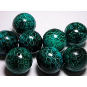 ヘビ皮封入ビーズ カラー 18mm|beadsshopj4