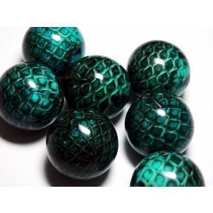 ヘビ皮封入ビーズ カラー 22mm|beadsshopj4