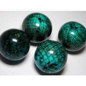 ヘビ皮封入ビーズ カラー 28mm|beadsshopj4