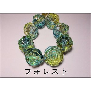 ヴィトライユビーズ(サマー)13バラ25MM|beadsshopj4