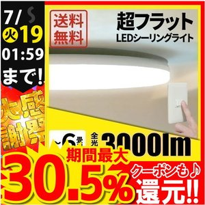 LEDシーリングライト 6畳 電球色 昼光色 CL-E6 ビームテック|beamtec