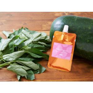 【 今年収穫分は売切れ 】 有機無農薬 野菜 天然だし BabyOrgente 冬瓜&モロヘイヤスープ 1袋|beans-japan