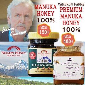 プレミアムマヌカハニーとマヌカハニー MGO480+とMGO150+ 250g×2個 ジェームズキャメロン ニュージーランド産ハチミツ 100%天然蜂蜜/ギフト/贈り物|beanspot
