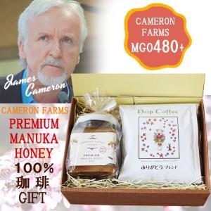 プレミアムマヌカハニー&コーヒーギフト MGO480+ ジェームズキャメロン ありがとうギフト 母の日、父の日ギフト ニュージーランド産ハチミツ |beanspot