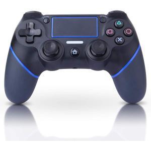 PS4ワイヤレスコントローラーの互換品コントローラーです。 【最新機能】最新PS4システムソフトウェ...