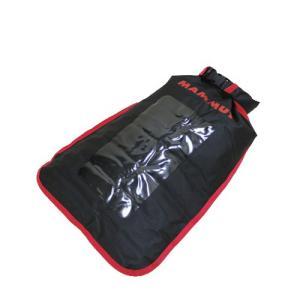 MAMMUT Dry Bag xs 5L Black 0001 travel pillow / マムート ドライバック ブラック レッド 防水 窓付きトラベル ポーチ ロールトップ|beardstore