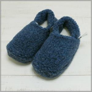 サイズ限定特別価格♪ Cold Breaker by Alwero Wool Pile Slipper Low Navy room shoes / コールドブレーカー アルベロ ウールパイル スリッパ ネイビー beardstore