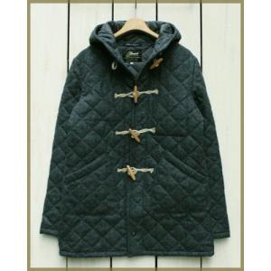 Beaver of Bolton Mens Wool Quilting Duffel Coat Charcoal / ビーバー オブ ボルトン メンズ ウール キルティング ダッフルコート チャコール|beardstore