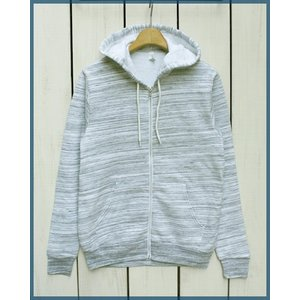 Bella Canvas Poly-Cotton Fleece Full Zip Hoodie parka L.Gray Marble / ベラ キャンバス フリース フルジップ フーディー パーカー L.グレー マーブル|beardstore