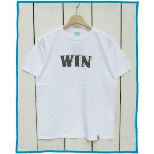 Bony Chops 「 WIN 」Logo Print Tee White / ボニーチョップス 別注 プリント Tシャツ ホワイト|beardstore