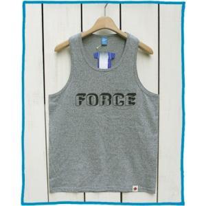 Bony Chops 「 FORCE 」Logo Print Tank Top M.Grey / ボニーチョップス 別注 プリント ポケット付タンクトップ M.グレー|beardstore