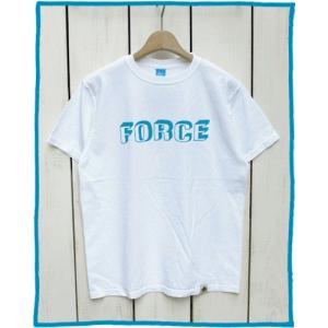 Bony Chops 「 FORCE 」Logo Print Tee White / ボニーチョップス 別注 プリント Tシャツ ホワイト|beardstore