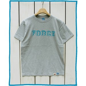 Bony Chops 「 FORCE 」 Logo Print Tee M.Grey / ボニーチョップス 別注 プリント Tシャツ M.グレー|beardstore