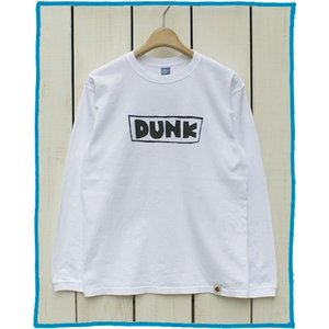 Bony Chops Special Made L/S Print Tee 「DUNK」White Washed / ボニーチョップス 長袖 プリント Tシャツ ホワイト 製品洗い|beardstore