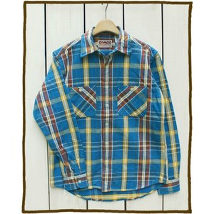 CAMCO Heavy Weight L/S Flannel Shirts Blue Yellow Brown / カムコ ヘビーウエイト フランネル シャツ 長袖 ブルー イエロー ブラウン 2016