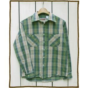 CAMCO Heavy Weight L/S Flannel Shirts 17-1 / カムコ ヘビーウエイト フランネル シャツ 長袖 ライトグリーン サンド 2017|beardstore