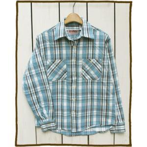 CAMCO Heavy Weight L/S Flannel Shirts 17-3 / カムコ ヘビーウエイト フランネル シャツ 長袖 ライトブルー ホワイト 2017|beardstore