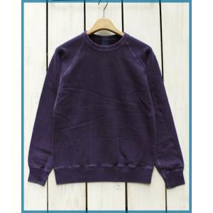 Good On L/S Raglan Crew Sweat Shirts Velvet Pigment Dye / グッドオン 長袖 ラグラン クルーネック スウェット シャツ ベルベット 製品染め|beardstore