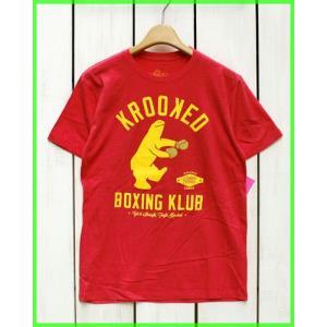 Krooked Boxing Klub S/S Print Tee H.Red / クルキッド プリント Tシャツ H.レッド beardstore