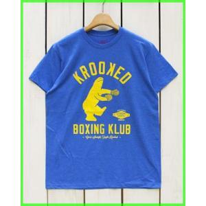 Krooked Boxing Klub S/S Print Tee H.Blue / クルキッド プリント Tシャツ H.ブルー beardstore