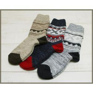 Magon Snow Knit Socks mens / マゴン 雪柄 アクリルニット ソックス メンズ|beardstore