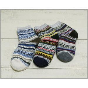 Magon Jaquard Socks 3-Colors onesize / マゴン ジャガード ソックス くるぶし丈|beardstore