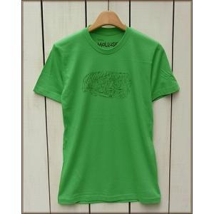 ラスト!! Mollusk S/S Print Tee 「Creeper」 Kelly Green / モラスク モルスク 半袖 プリント Tシャツ ケリー グリーン|beardstore