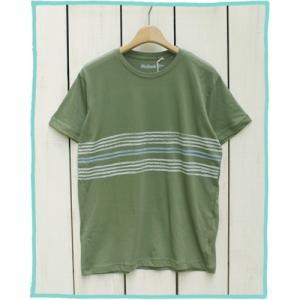 Mollusk Tracks T Shirts Mash Green / モラスク モルスク 半袖 プリント Tシャツ モスグリーン|beardstore