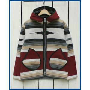 Mucho Bueno Elpaso Blanket Hooded Jacket  Burgundy M / ムーチョ ブエノ エルパソ ブランケット フード ジャケット バーガンディ M|beardstore