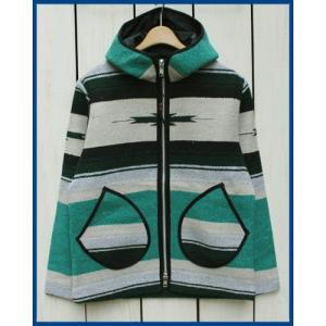 Mucho Bueno Elpaso Blanket Hooded Jacket  Emerald L / ムーチョ ブエノ エルパソ ブランケット フード ジャケット エメラルド L|beardstore