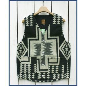 Mucho Bueno Ecuador Vest button native Black L / ムーチョ ブエノ エクアドル ベスト ブラック L  コンチョボタン|beardstore