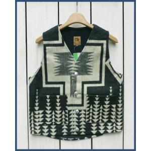 Mucho Bueno Ecuador Vest button native Black S / ムーチョ ブエノ エクアドル ベスト ブラック S コンチョボタン|beardstore