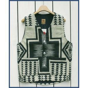 Mucho Bueno Ecuador Vest button native Off White L / ムーチョ ブエノ エクアドル ベスト オフホワイト L  コンチョボタン|beardstore