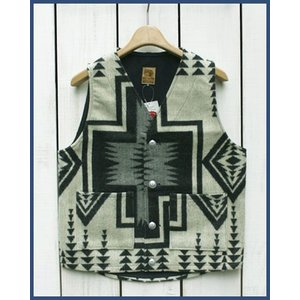 Mucho Bueno Ecuador Vest button native Off White M / ムーチョ ブエノ エクアドル ベスト オフホワイト M  コンチョボタン|beardstore