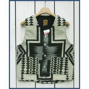 Mucho Bueno Ecuador Vest button native Off White S / ムーチョ ブエノ エクアドル ベスト オフホワイト S  コンチョボタン|beardstore