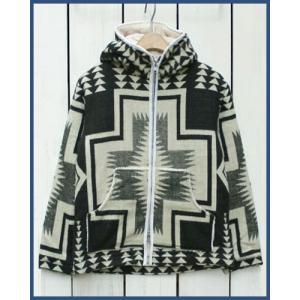 Mucho Bueno Ecuador Blanket Hooded Jacket Black M / ムーチョ ブエノ エクアドル ブランケット フード ジャケット ブラック M ボア裏地|beardstore